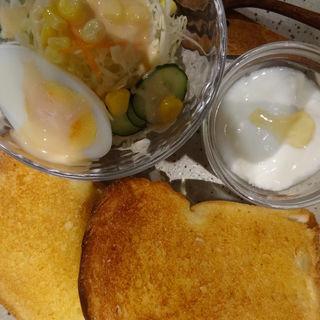 バタートーストモーニングドリンクセット(うさぎとぼく )
