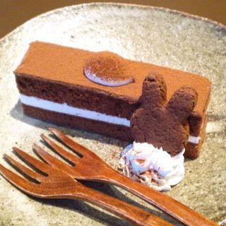 チョコケーキドリンクセット(うさぎとぼく )