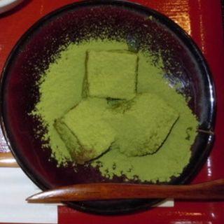 蕨餅 抹茶セット(嵐山さくら餅 稲 (あらしやまさくらもち いね))