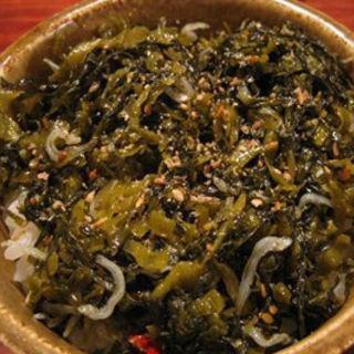 ピリ辛高菜ジャコご飯(ザルバク)