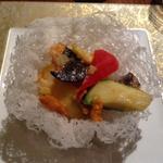 ロブスターと野菜の雲丹風味炒め