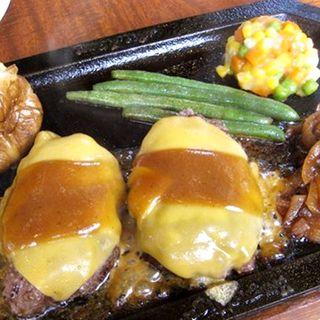 ダブルハンバーグステーキ+チーズ(ハングリータイガー 保土ヶ谷本店 (Hungry Tiger))