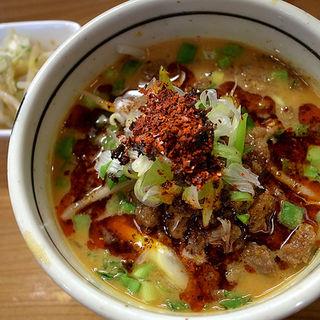 麻婆豆腐かけご飯と一口担々麺セット(雲林坊)