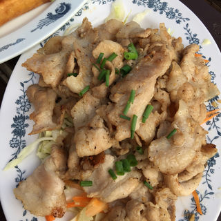 豚肉炒め(タイ村)