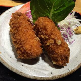 カニクリームグラタンコロッケ定食(広瀬)