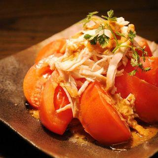 まるごとトマトのサラダ~バンバンジー風~(福みみ 柏店 (ふくみみ))