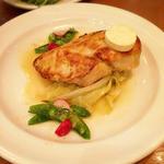 丹羽鶏ロースト 季節野菜と鰹節バターソース