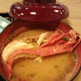 湘南秋定食、伊勢海老のお味噌汁(仙水)
