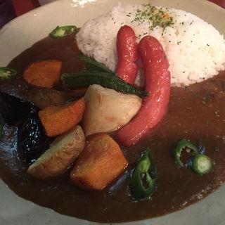 揚げ野菜ウインナーカレー(プコ家)