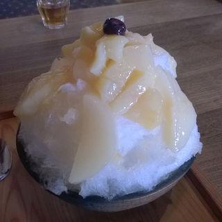 桃のかき氷(三宅商店)