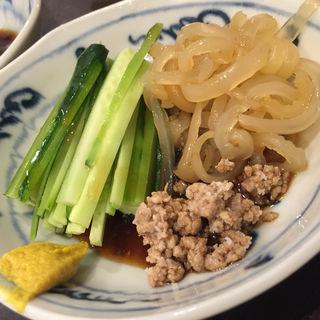 クラゲ酢の物(貴味蛸 (きみたこ))