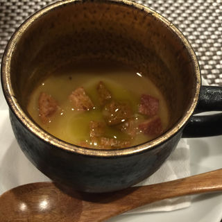 トウモロコシのカレー風味冷スープ(森サンジョヴェーゼ )