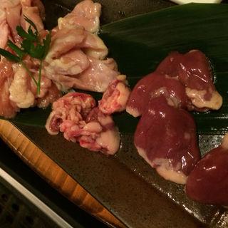 大山鶏鉄板焼き盛り合わせ(ちゃぼ)