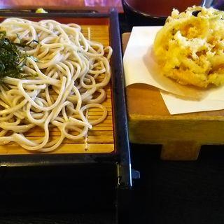 かき揚げざる蕎麦(穂し乃庵 )