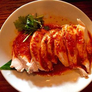 四川風よだれ鶏〜ピリ辛ゴマソース(モンスーンカフェ お台場 (Monsoon Cafe))