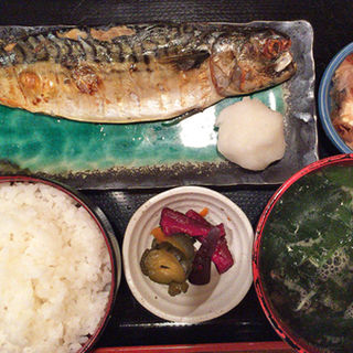 さば塩焼定食(三橋屋)