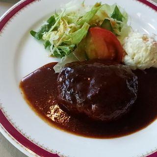 アンジェ特製ハンバーグセット(洋食&プライムリブ レストラン アンジェ)