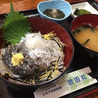 しらす二色丼(池田丸)