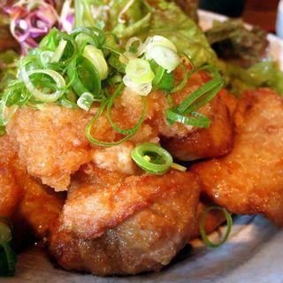 芳寿豚の唐揚げおろしポン酢(くんち )