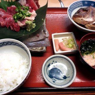 まぐろ眼肉・ホホ肉造り定食(魚市 (うおいち))