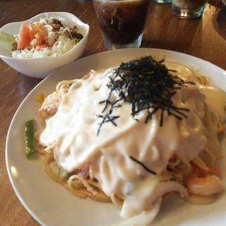 明太子クリームスパゲッティ(CAFE WOODY W. (ウッディ))