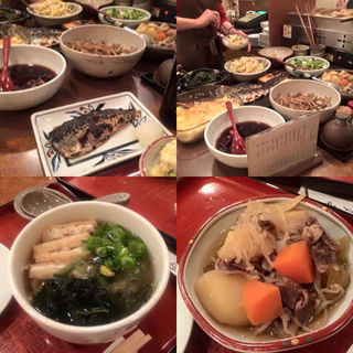 わらべうどん、鯖の塩焼き、肉じゃが(うどん 讃岐路 )