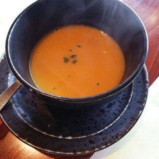 季節の野菜スープ(かぼちゃ)(Yasato de toreta)