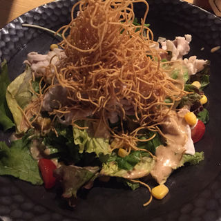 長崎皿うどんの冷しゃぶパリパリサラダ(薩摩ごかもん 梅田茶屋町本店 (さつまごかもん))