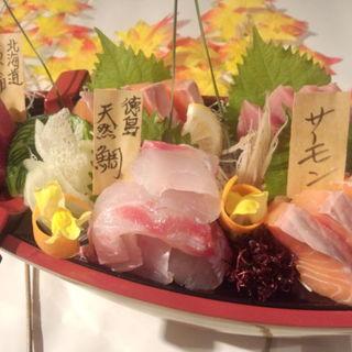函館鮮魚お造り3種盛り合わせ(産直鮮魚ぎんざ五平 )