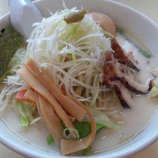 鶏白湯 野菜のっけ塩そば(並)(らーめん めん吉 新松戸店 )