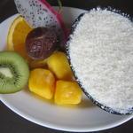 フルーツ盛りココナッツアイス