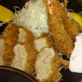 海老ヒレカツ定食(とんかつ稲 仲町台駅前店 (とんかつ・いね))