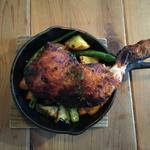 骨付きタンドリーチキンと季節野菜のロースト