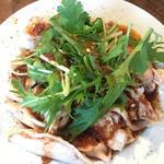 蒸し鶏の花椒ソース