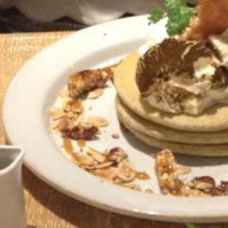 チョコレートバナナパンケーキ(J.S. PANCAKE CAFE天王寺ミオ店 (ジェイエスパンケーキカフェ))