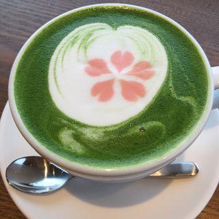 抹茶ラテホット(トゲツ カフェ (TOGETSU CAFE))