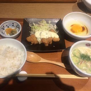 冷や汁とチキン南蛮定食(赤坂うまや 新宿)