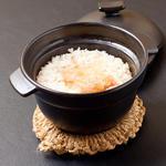 キンキとフカヒレの土鍋御飯