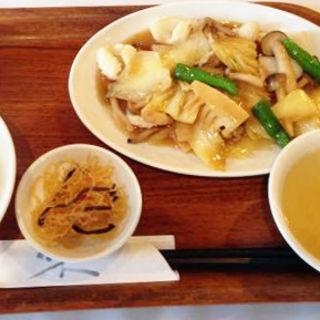 いかと豚肉の野菜炒め定食(中国料理 大晃飯店)