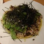 豚肉と高菜・キノコのペペロンチーノ(chez MACIO)