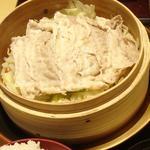 琉香豚と野菜のせいろ蒸し定食