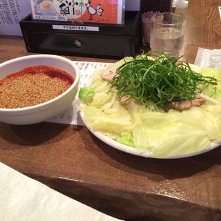 つけ麺大盛り+キャベツ大盛り(広島風冷しつけ麺・楽 (楽))