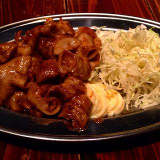 【ランチセット】やみつきダレのホルモン味噌炒め定食(ペコリ (Pecori))