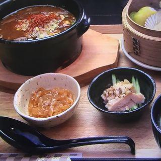 麻婆抹茶豆腐セット(和夢茶Cafe )