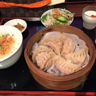 餃子定食(蒸)(茶思味)