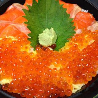 鮭とイクラ丼膳(乃の木)