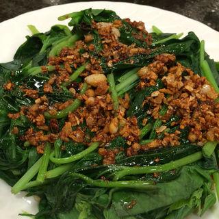 青菜炒め(さつまいもの葉)(台湾客家料理 新竹 (タイワンハッカリョウリ・シンチク))