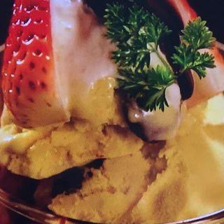 アボカドとピスタチオのバニラアイスのパフェ仕立て(GreenButter (グリーンバター【旧店名】MEXCOLA 茶屋町))