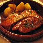 豚バラ肉のチリソース煮込み