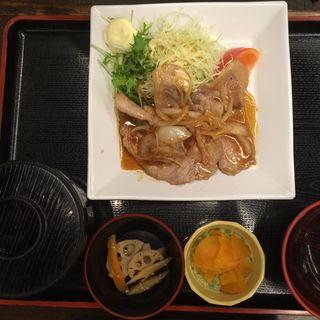 麦富士豚の生姜焼き定食(季膳房 (きぜんぼう))